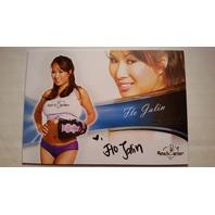Flo Jalin 2013 Bench Warmer Bubble Gum Autograph Auto on Card #5 Playboy
