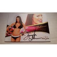 Jennifer Johnson 2011 Bench Warmer Bubble Gum Autograph Auto on Card #A41