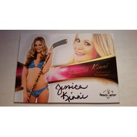 Jessica Kinni 2011 Bench Warmer Bubble Gum Autograph Auto on Card #A38