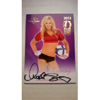 Nikki Ziering 2013 Bench Warmer Industry Summit Autograph Auto on Card Playboy