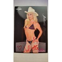 Juliette Dugas 2005 Bench Warmer Autograph Auto Playboy Red Ink