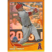 MIKE TROUT 2013 Topps Chrome Update Gold Refractor /250