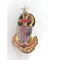 Coast Guard E8 Senior Chief Petty Officer E8 Metal Collar Device - 1 Pin