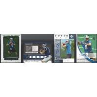 Dan Orlovsky Detroit Lions 4 Card Lot / Autograph, Memorabilia & Rookie RC Card