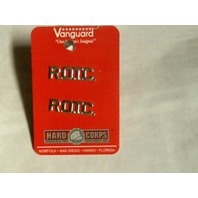 Vanguard US Army ROTC Collar Device - Cut Out Letters - 22K