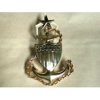 "Vanguard Coast Guard Device Senior Chief Petty Officer E8 - Metal - 4 1/2"""