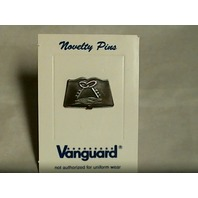 Vanguard Navy Ball Cap Device Pin Mess Culinary Specialist (CS) (MS) - Silver