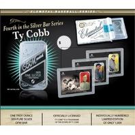 Ty Cobb Elemetal 1 Troy Ounce .999 Fine Silver T-206 Baseball Greats Sealed