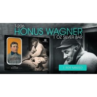 Honus Wagner Elemetal 1 Troy Ounce .999 Fine Silver T-206 Baseball Greats Sealed