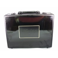 Empty 2017 Panini Flawless Baseball MLB Black Briefcase Case w/ 2 Keys