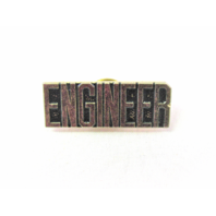 US USA Military ENGINEER Hat Lapel Pin Clutch Back