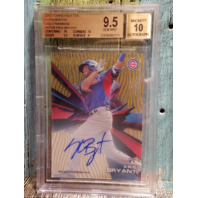 Kris Bryant 2015 Topps High Tek Gold Rainbow Auto Rookie RC BGS 9.5 Gem Mint /50
