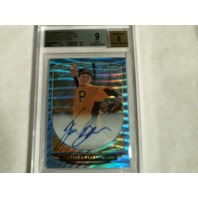 Tyler Glasnow 2013 Bowman Chrome Blue Wave Refractor Auto Card /50 BGS 9 RC