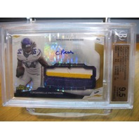 CORDARRELLE PATTERSON 2014 Finest Pulsar Refractor /25 Rookie Patch Auto BGS 9.5