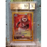 TODD GURLEY 2015 Bowman Chrome Rookie Autograph Gold Refractor Graded 9.5 /75