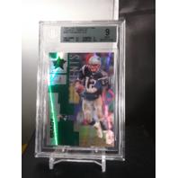 Tom Brady 2007 Leaf Rookies & Stars Emerald Longevity /29 Beckett BGS 9 Mint R&S