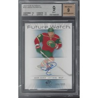 Jason Zucker Minnesota Wild Graded BGS 9 Future Watch Rookie Autograph /999