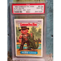 Alec Gator 1988 Garbage Pail Kids #616a Stickers-Die-Cut PSA 10