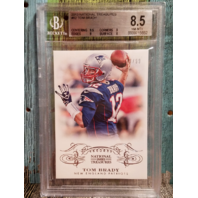 Tom Brady National Treasures 2013 #62 BGS 8.5 New England Patriots 62/99