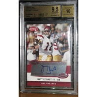MATT LEINART 2006 Aspire Rookie Autograph Card Graded GEM MINT 9.5 w/ 10 Auto