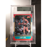 Larry Bird 1986-87 Fleer Rookie RC #9 Beckett Graded BGS 9 MINT Boston Celtics
