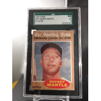 Mickey Mantle 1962 Topps All-Star #471 SGC 60 EX 5 Excellent HOF NY Yankees