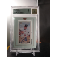 Joe Mauer 2002 Topps 206 Framed Mini Rookie RC Autograph Auto BGS 9 MINT Twins