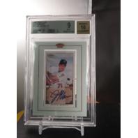 Joe Mauer 2002 Topps 206 Framed Mini Rookie RC Autograph Auto BGS 9 MINT Twins