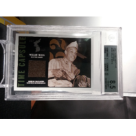 Willie Mays 2001 Topps Heritage Time Capsule Korean War Worn Memorabilia BGS 8.5