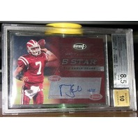 MATT LEINART 2006 Aspire 5 Star Auto Rookie Card /25 Graded NEAR MINT 8.5 w/ 10