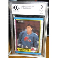 JOE SAKIC 1989-90 O-PEE-CHEE Rookie Card #113 Graded Beckett BCCG 9 NORDIQUES