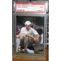 TIGER WOODS 2003 Upper Deck Card #1 Graded PSA 9
