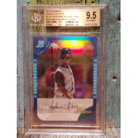 ANDREW MCCUTCHEN 2013 Bowman Rookie Reprint Blue Sapphire Refractor Graded 9.5