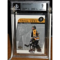 TIM THOMAS 2002-03 Upper Deck Young Guns UD YG Rookie Card #429 RC BGS 9 MINT
