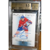 GABRIEL DUMONT 2012-13 UD SP Authentic Rookie Card Beckett Graded 9.5 Auto RC