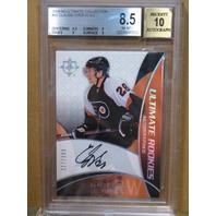 CLAUDE GIROUX  2008-09 UD Ultimate Collection Rookie Auto BGS Graded 8.5 Card