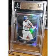 YASIEL PUIG 2013 Topps Chrome Cream of Crop Mini Refractor Card BGS 9.5 Gem Mint