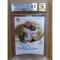 MILAN LUCIC 2007-08 UD SP Authentic Future Watch Rookie Auto BGS Graded 8.5 Card