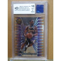 KOBE BRYANT  1996-97 Topps Stadium Club Members Only 55 #52 Jersey BGS Graded 10