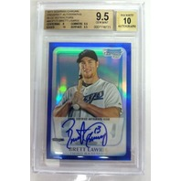BRETT LAWRIE 2011 Bowman Chrome Prospect /150 Blue Refractor Graded 9.5 10 Auto