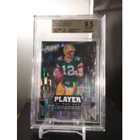 Aaron Rodgers 2016 Panini Player of the Day Galactic Windows BGS 9.5 GEM POP=1