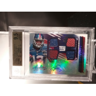 Odell Beckham Jr 2014 Absolute Rookie Premiere Material Jersey Ball Auto BGS 9.5