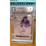 JAKE GARDINER 2011-12 SP Authentic Future Watch Rookie Auto BGS 9 Card #225