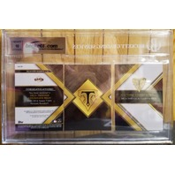 Buster Posey 2016 Topps Triple Threads Deca Relic Gold Auto 1/5 BGS 9.5 Gem Mint