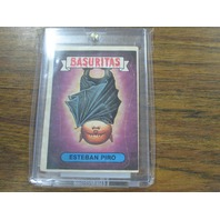 Garbage Pail Kids Basuritas Argentina Sticker 30 Esteban Piro Haunted Hollis