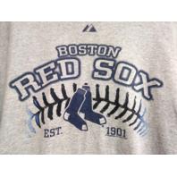 Majestic BOSTON RED SOX Gray Graphic T-Shirt Men's Size 2XL Baseball MLB