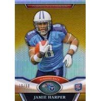 JAMIE HARPER 2011 Topps Platinum Rookie Gold Refractor Parallel 19/50 Card