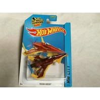 Hot Wheels 2014 HW City Works Poison Arrow Treasure Hunts 4/250 BFC30 Red Plane