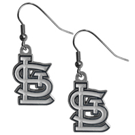 St. Louis Cardinals Dangle Fish Hook Earrings NEW in Package MLB Licensed