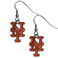 New York Mets Dangle Fish Hook Earrings NEW in Package MLB Licensed